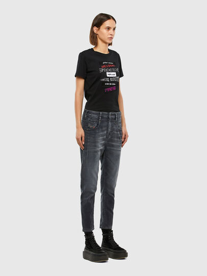 Diesel - Fayza JoggJeans 069QA, Black/Dark Grey - Jeans - Image 7