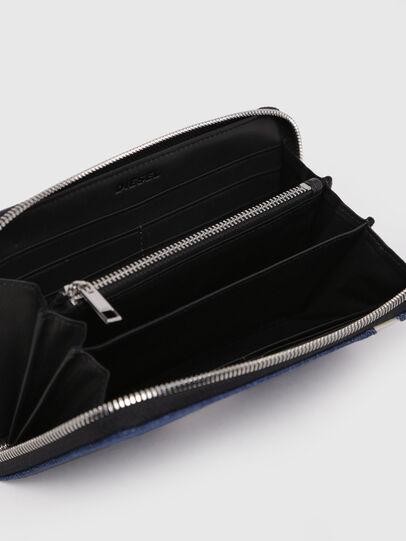 Diesel - 24 ZIP, Dark Blue - Zip-Round Wallets - Image 3