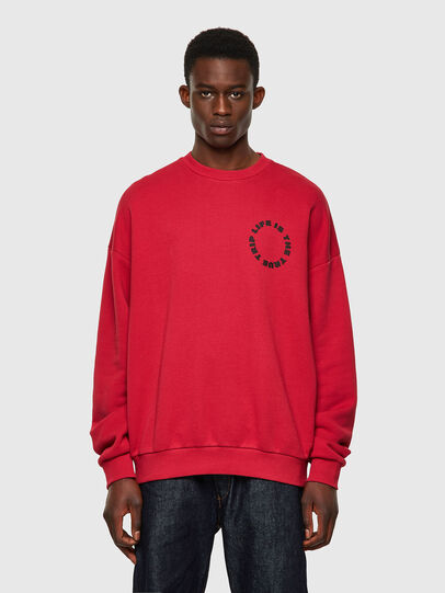 Diesel - S-MART-B3, Red - Sweatshirts - Image 1