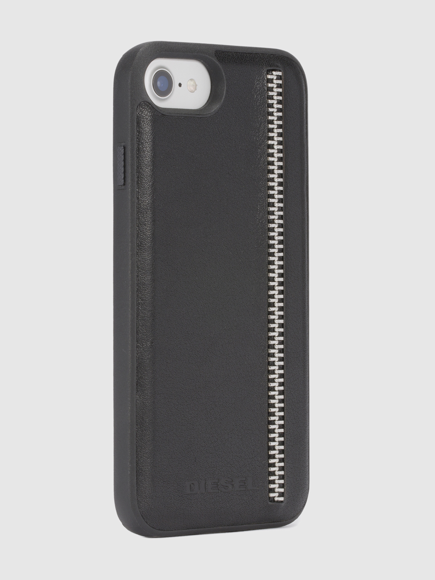 Diesel - ZIP BLACK LEATHER IPHONE 8 PLUS/7 PLUS/6s PLUS/6 PLUS CASE,  - Cases - Image 5