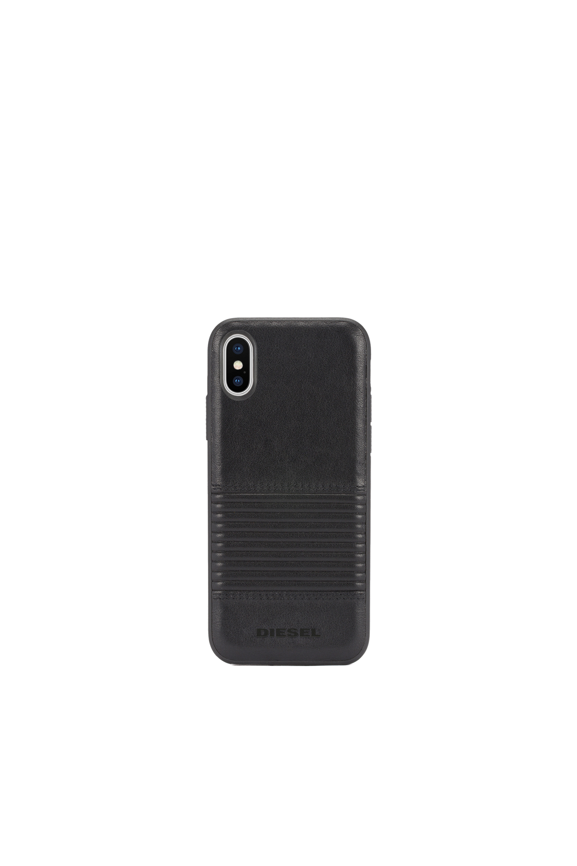 Diesel - BLACK LINED LEATHER IPHONE X CASE,  - Cases - Image 4