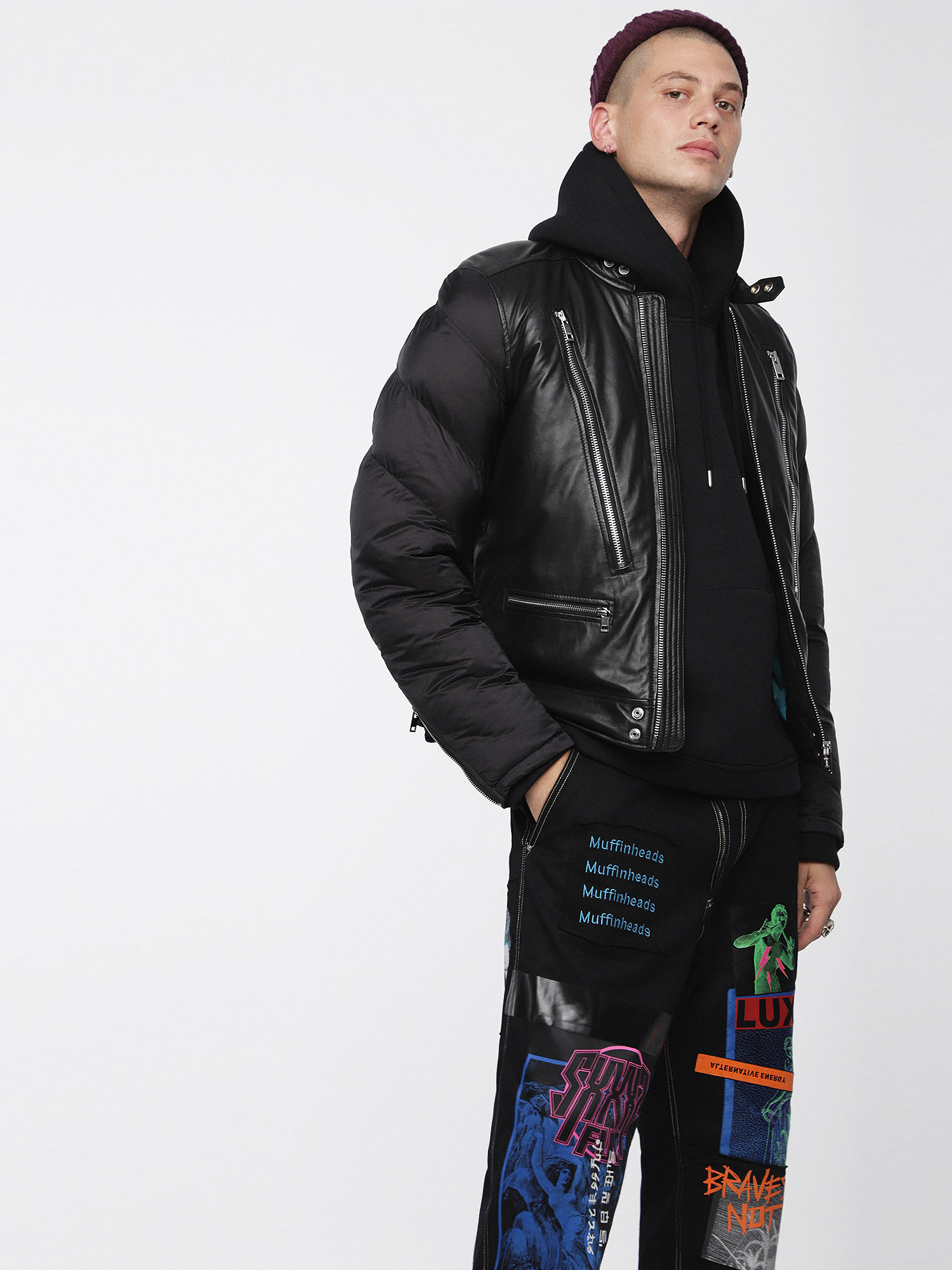 Diesel - L-WINTER,  - Leather jackets - Image 1