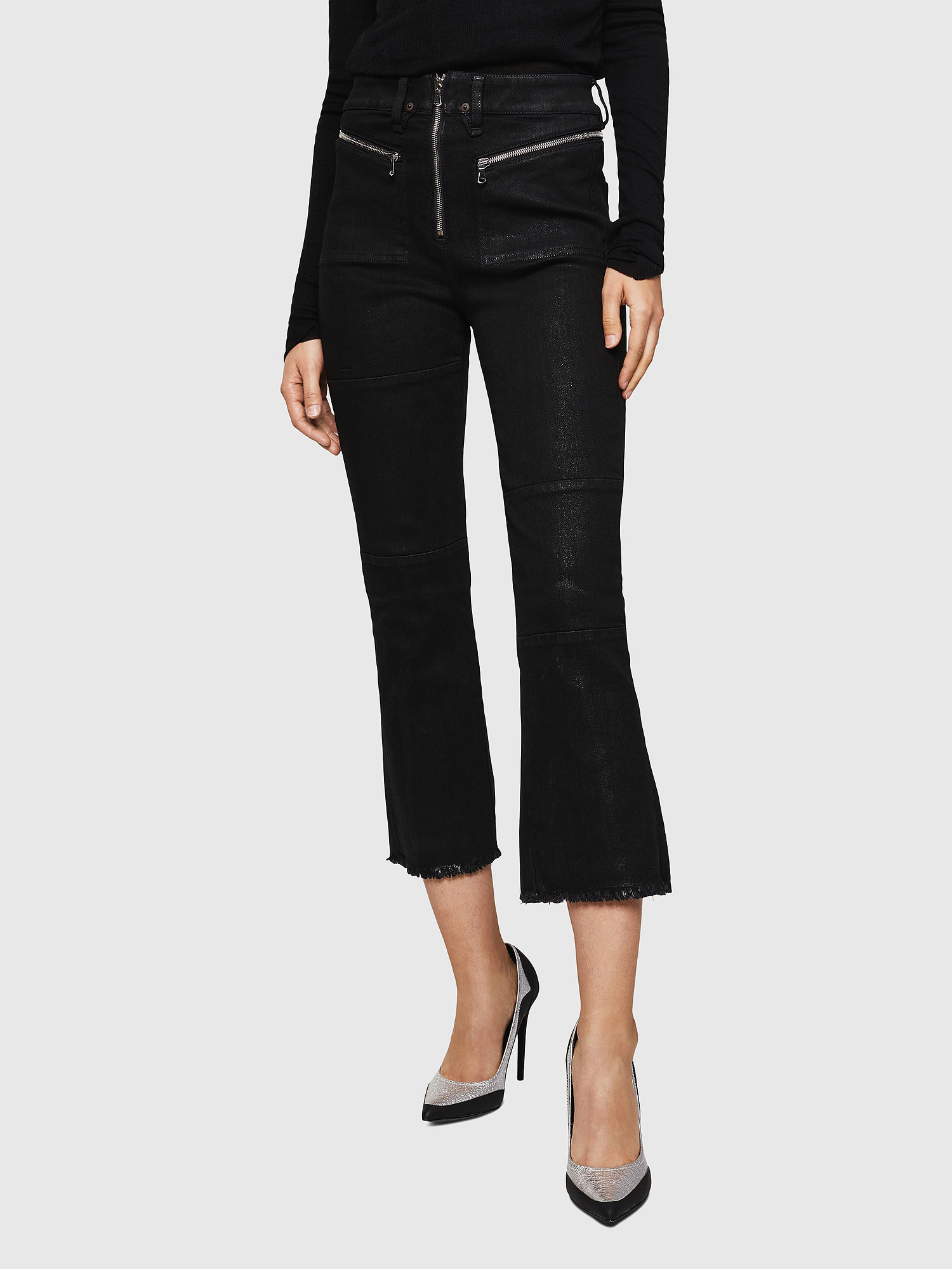 TYPE-1909 Women: Coated jeans with zip details | Diesel