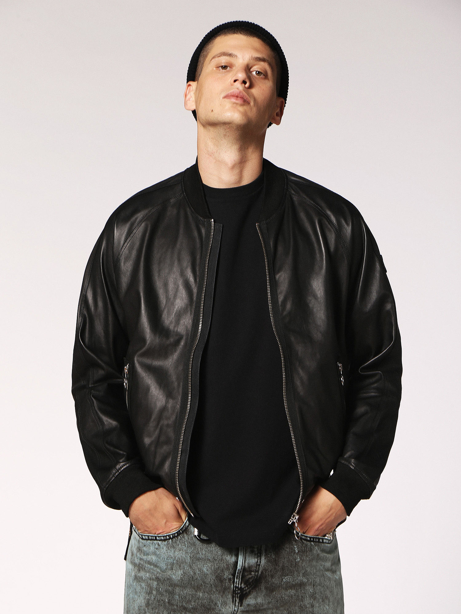Diesel - L-PINS,  - Leather jackets - Image 1