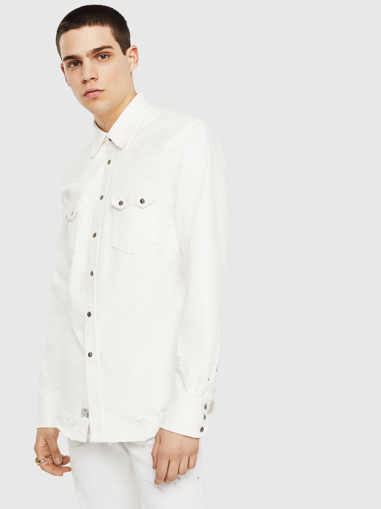 Diesel Denim Shirts 0GASO - White - L