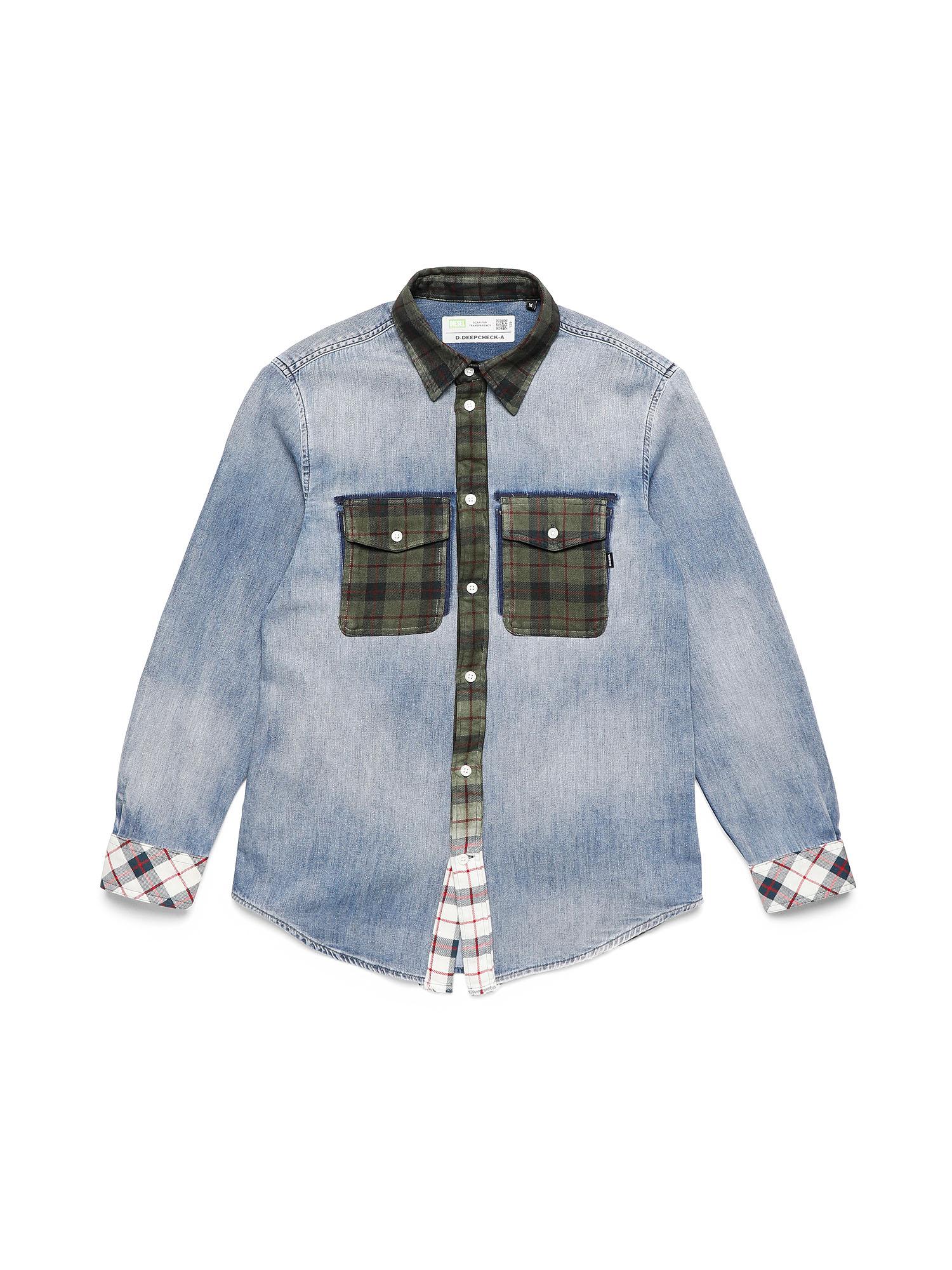 Diesel Denim Shirts 0DBAS - Blue - L