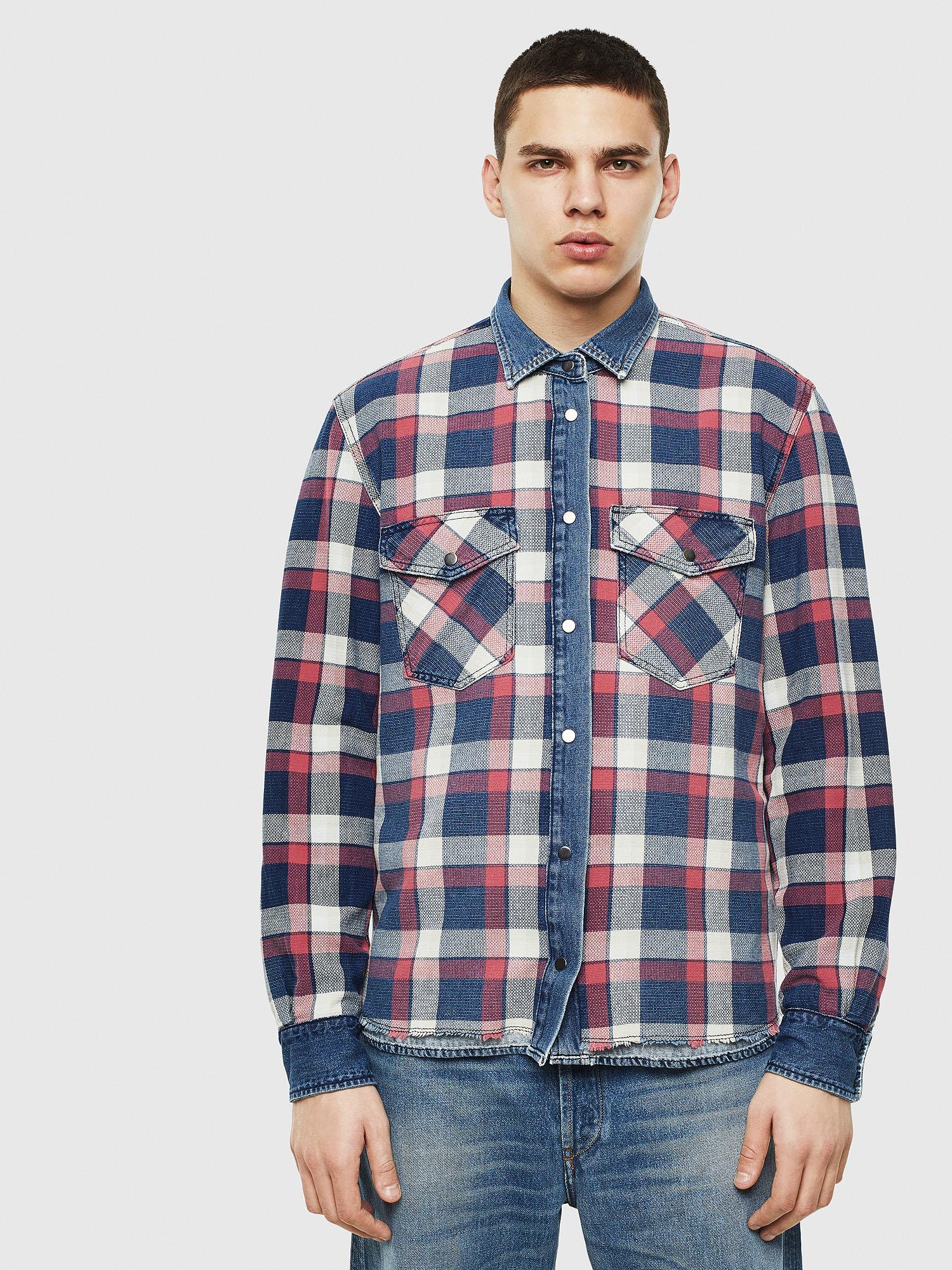 Diesel Denim Shirts 0HAYB - Blue - L