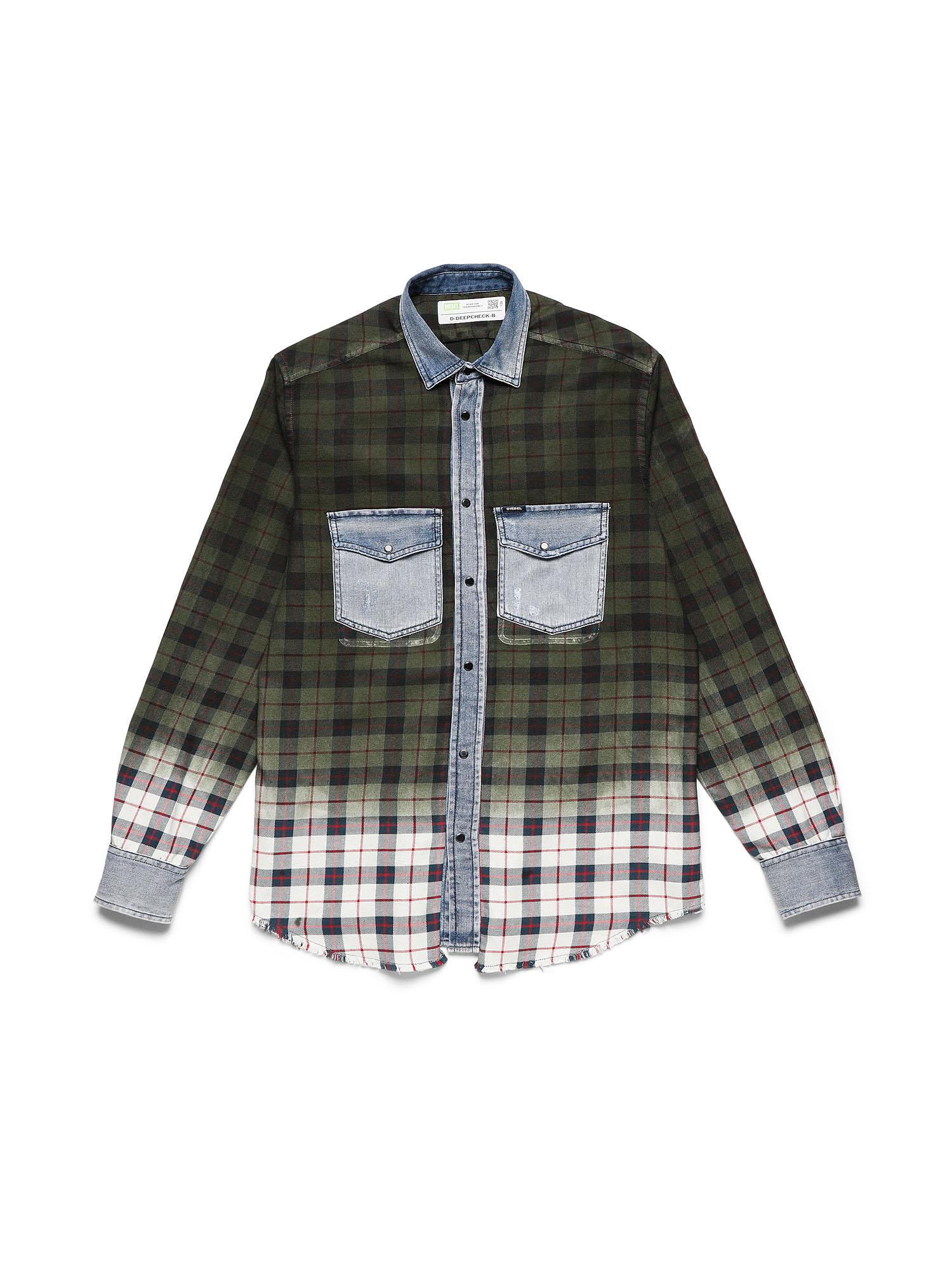 Diesel Denim Shirts 0CBAX - Green - L