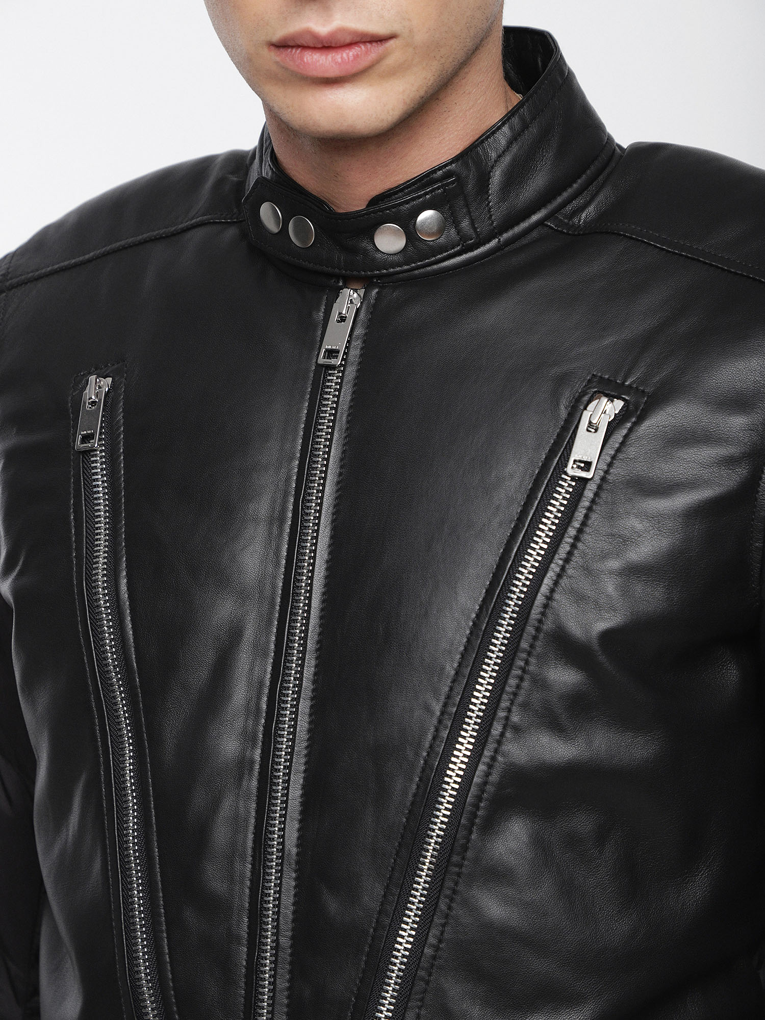 Diesel - L-WINTER,  - Leather jackets - Image 4