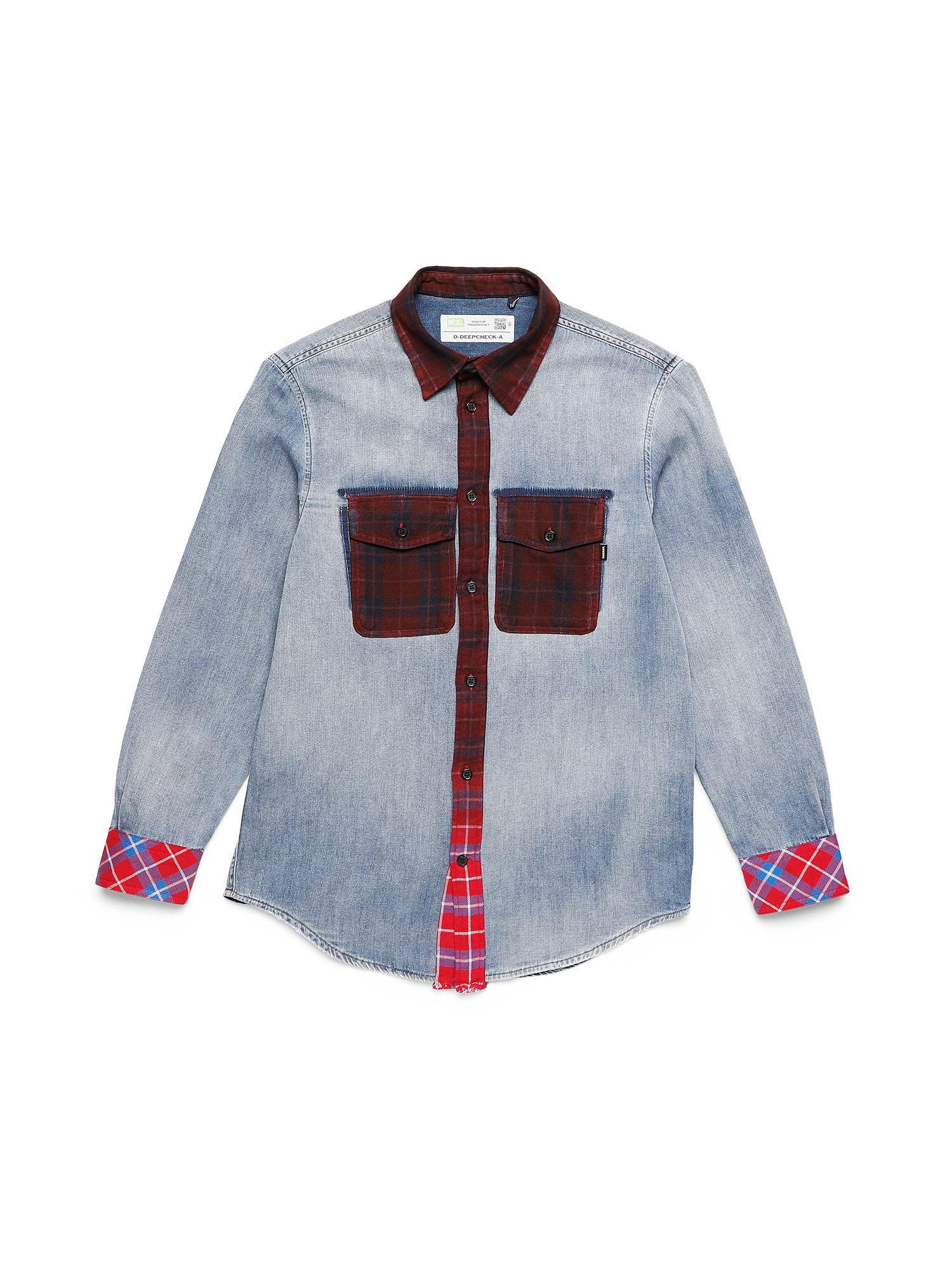 Diesel Denim Shirts 0DBAT - Blue - L