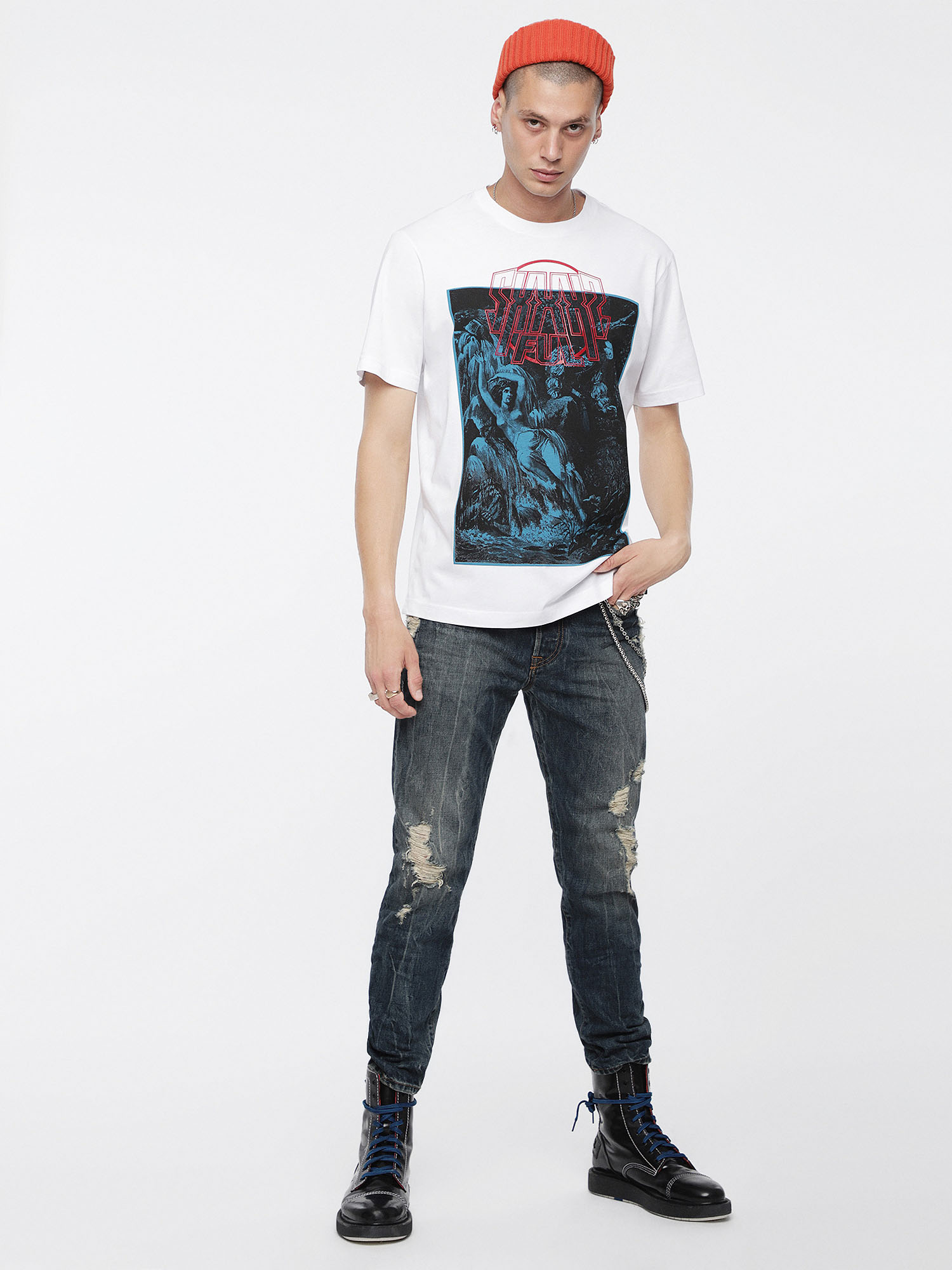 Diesel - T-JUST-XQ,  - T-Shirts - Image 4