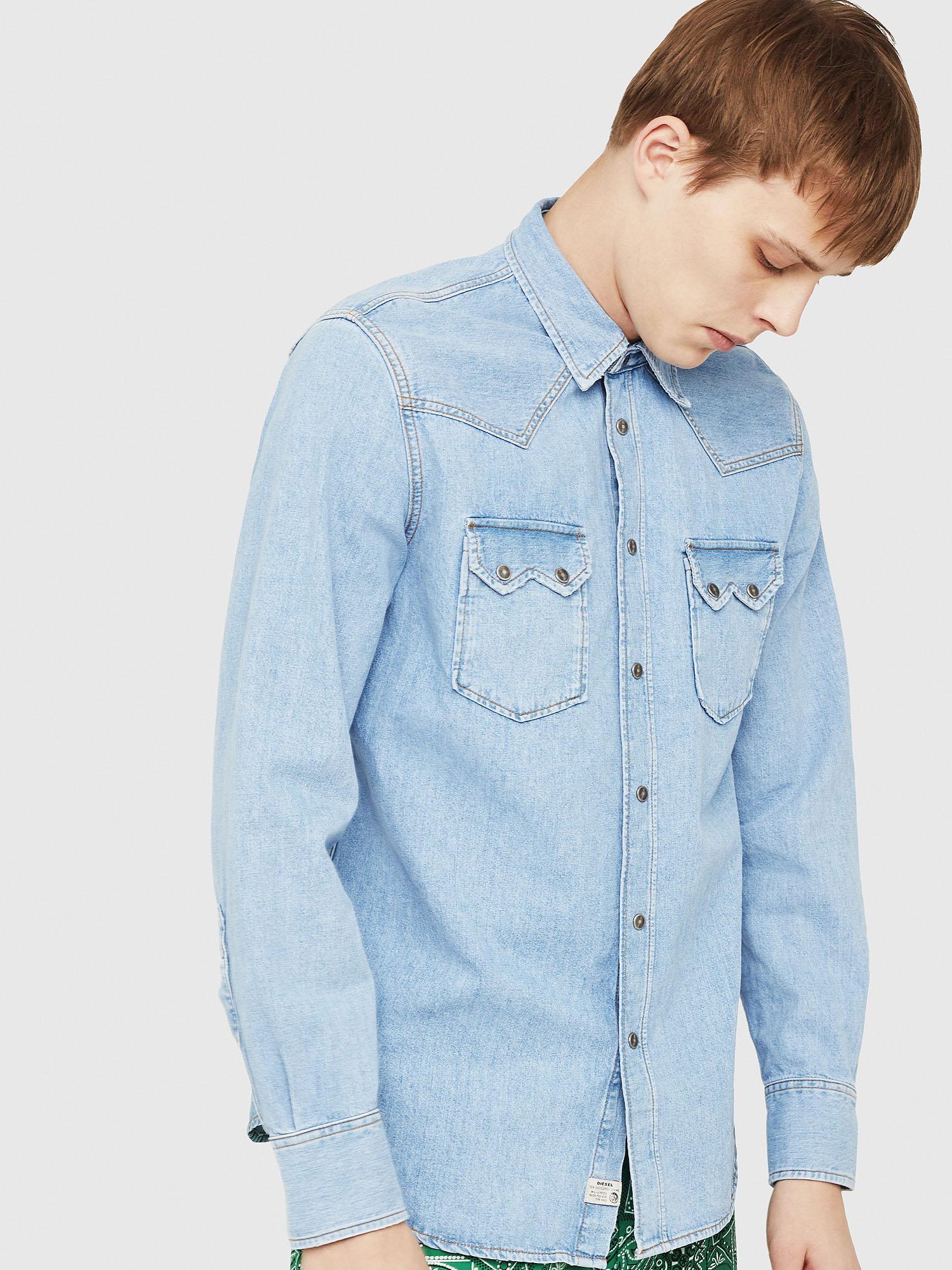 Diesel Denim Shirts 0DAVK - Blue - L