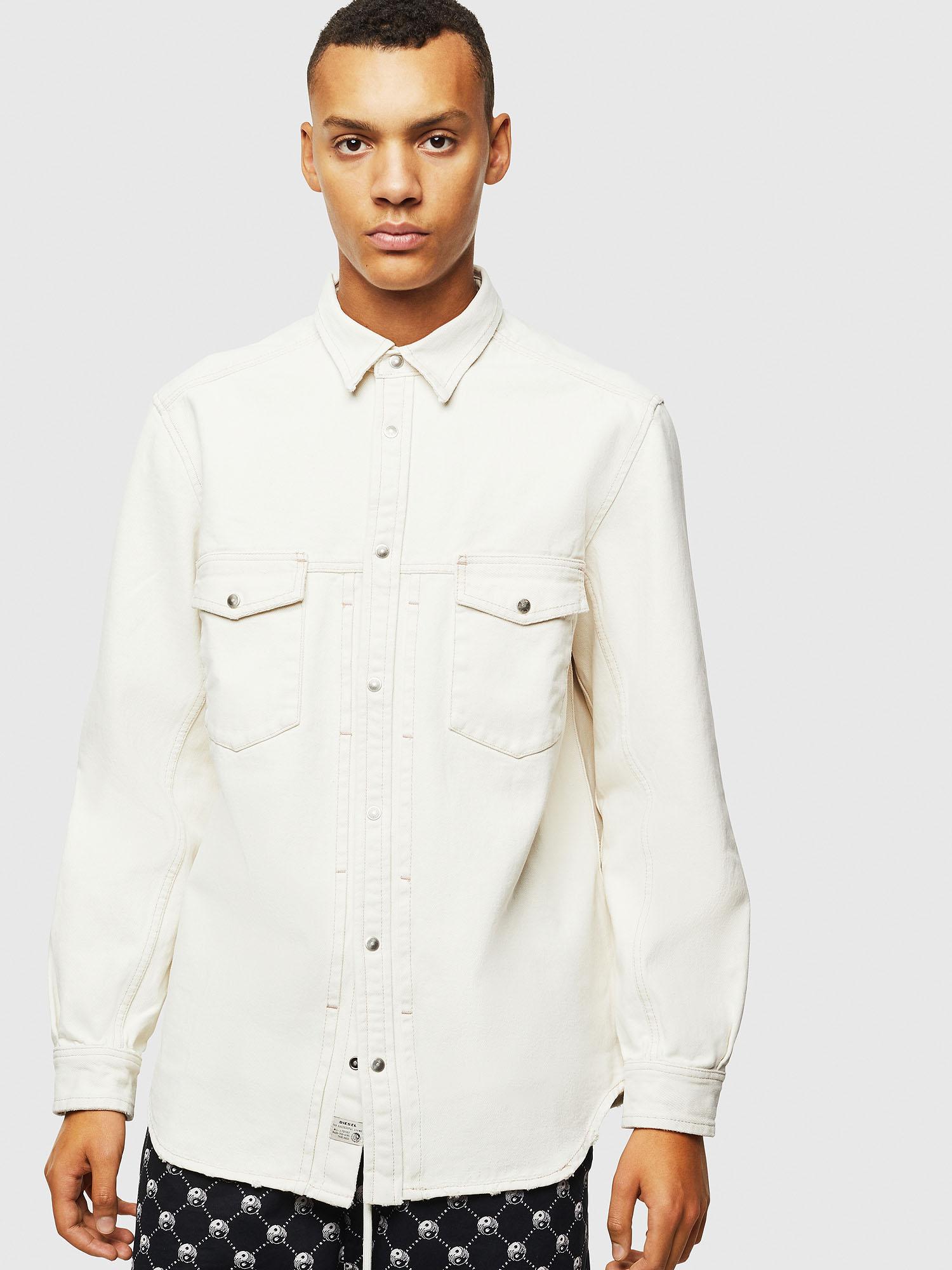 Diesel Denim Shirts 0HAWA - White - L