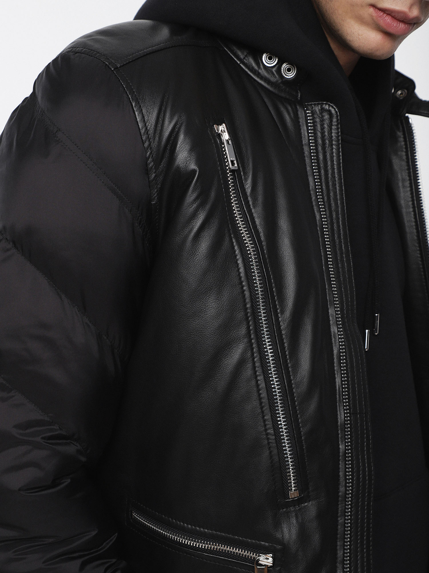 Diesel - L-WINTER,  - Leather jackets - Image 3